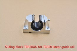 Linear Blocks Australia - TBR20UU aluminum block 20mm Linear motion ball bearing slide block for TBR20 20mm linear guide rail cnc part 1pcs