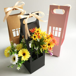 $enCountryForm.capitalKeyWord Australia - Cardboard Gift Packing Boxes New Pattern Portable Carton Flower Basket Waterproof Thickening Flower Bouquet Packing Flower Pot