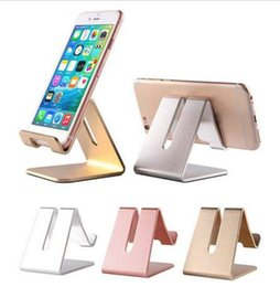 Foldable Desk Stand For Tablets Australia - 4 Colors Universal Aluminum Alloy Cell Phone Tablet PC Desk Holder Mount Metal Foldable Mobile Stand for iphone samsung J30