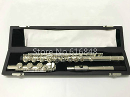 Keys Open Australia - Pearl Flute PF-505 RBE C Tune High Quality Flute 17 Keys Open Hole Silver Plated Flute New Musical Instrument Flauta With Case Accessories