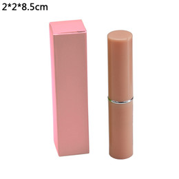 lipstick wholesalers Australia - 2*2*8.5cm Pink Perfume Bottle Packaging Craft Paper Boxes Lipstick Kraft Paper Package Box Retail 50pcs lot Foldable Paperboard Box