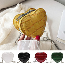 $enCountryForm.capitalKeyWord Australia - 2019 Handbag Women Serpentine Leather heart-shape Crossbody Bag Handle Bag Chain Shoulder Dropshipping bolsa feminina