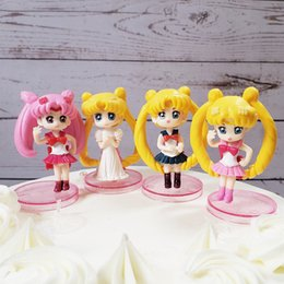 sailor moon figures wholesale Australia - New arrival SAILOR MOON Action Figures PVC Toy For Pastry Baking Plug-in Decoration 6.5cm