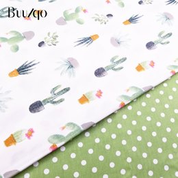 $enCountryForm.capitalKeyWord Australia - Cactus Printed Cotton Fabric Kids Cotton Sheet Fabric Patchwork Cloth DIY Sewing Quilting Fat Quarters Material For Baby&Child