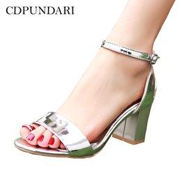 $enCountryForm.capitalKeyWord Australia - Cdpundari Ladies Big Size High Heel Sandals Women Summer Shoes Woman Chaussures Femme Ete 2019 Sandalias Mujer Silver Pink Red Y19070203