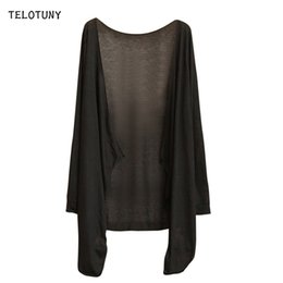 women summer thin cardigan NZ - TELOTUNY Long Sleeve Solid Women Blouse 2019 Summer Causal Cardigan Thin Sunscree Protection Clothing Long Tops T-shirts 19L0720