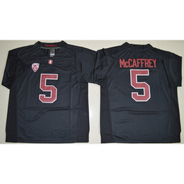 Black yellow american footBall jersey online shopping - Mens Stanford Cardinal Christian McCaffrey Stitched Name Number American College Football Jersey Size S XL