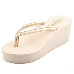 $enCountryForm.capitalKeyWord Australia - Platform Summer Shoes Slippers Flip Flops Wedge High Heel for Fashion Ladies Women Girls Stars Love Style Vogue Slippers with High Quality