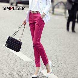 $enCountryForm.capitalKeyWord Australia - Women Formal Office Work Pants Plus Size Ladies Pencil Pants Black Ol Fashion Black White Khaki Trousers Mid Waist Leggings 2018 MX190716
