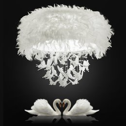 Lighting Luminaries online shopping - Romantic Ceiling Lighting Modern White Feather Led Ceiling Lamp Art Deco for Wedding Luminary for Hotel