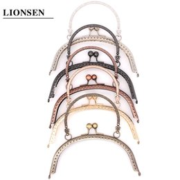 $enCountryForm.capitalKeyWord Australia - LIONSEN 5 color 16.5cm Metal Handbag Handle Frame Kiss Clasp Lock Handle Arch For DIY Purse Bag Fashion New Fashion DIY C