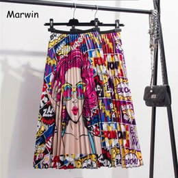 Print Street Style Australia - Marwin 2019 New-coming Spring Summer Printing Cartoon Pattern Empire High Elastic Women Skirt Party Holiday High Street Style Y19060301