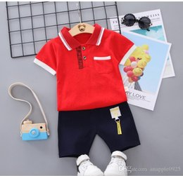 $enCountryForm.capitalKeyWord Australia - Children's suit new baby short sleeve clothing set summer baby boys and girls body suit cartoon kids clothing set 1-3Year