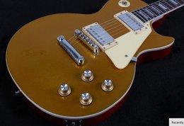 Guitar One Piece Neck Australia - 1956 goldtop electric guitar,one piece neck Goldtop Les guitar,rosewood fingerboard free shipping