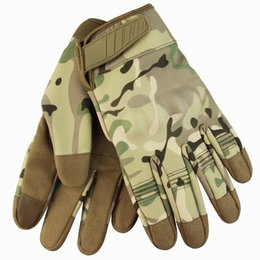 paintball army Australia - Army Combat Tactical Gloves Men Full Finger Camouflage Paintball Military Gloves Windproof warm Bicycle Mittens handschoenen