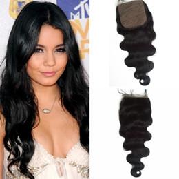 Best cheap virgin Brazilian hair online shopping - Best Malaysian Silk Base Closure Virgin Human Hair Malaysia Body Wave Top Silk Closure Bleached Knots Cheap Silk Closures G EASY Hair