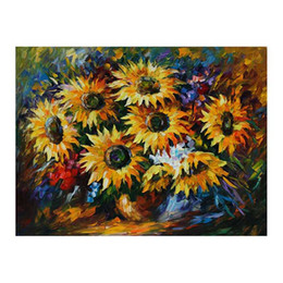 "$enCountryForm.capitalKeyWord Australia - 36""x48"" Restaurant hand-painted oil painting porch hanging painting modern simple European decorative painting sunflower flower still life"