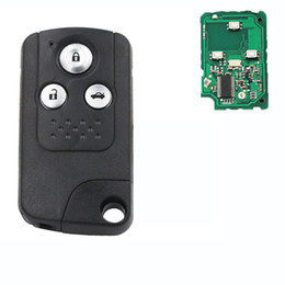 honda civic keys NZ - 1PC 3Button Intelligent Smart Remote Key fob 433MHZ With ID46 Chip For New CIVIC