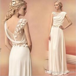 $enCountryForm.capitalKeyWord NZ - Long Evening Dresses 2019 Bride Princess Banquet Lace Chiffon Prom Dress Greek Goddess Elegant Backless Plus Size Formal Dress