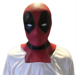 Wholesale hot deadpool costume online – ideas Hot Movie Deadpool Mask Masque latex Masks Halloween Costume Movie Cosplay mask Adults Party propsMasque l