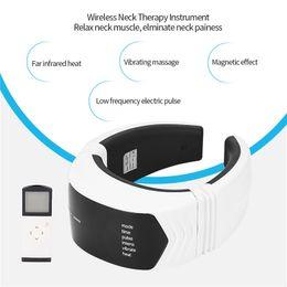 $enCountryForm.capitalKeyWord Australia - Far Infrared Heat Neck Massager Low-frequency Pulse Cervical Vertebra Instrument Remote Control Magnetic Neck Massager 0 T190712