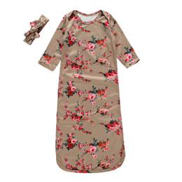 $enCountryForm.capitalKeyWord Australia - Baby Anti Kick Quilt Infant Sleeping Bag With Headband Kids Outdoor Camping Sleeping Bags Boy Girl Cotton Pajamas GGA2429