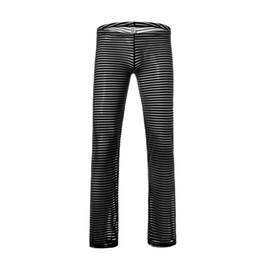 a928f98ecfe4 Man Underwear Male Sexy Ice Silk Transparent Pajama Bottoms Gay Sexy Mesh  Sheer Lounge Pants Sleepwear