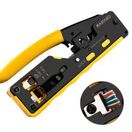 RJ45 Crimp-Werkzeug für 6P / RJ11 und 8P / RJ45 Crimp Cut Strip Tool Multifunktions-Crimp-Werkzeug für Telefonleitung Ethernet-Kabel neu im Angebot