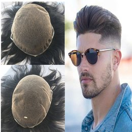 $enCountryForm.capitalKeyWord NZ - Full Lace Men Toupee Swiss Lace Toupee For Men Replacement System Breathable Hairpiece Bleach Kont Natural Black Straight Human Hair Men Wig