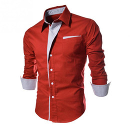 Discount fashion dressing style men shirt - 2018 High quality Fashion Stripes Assorted Colors Style Slim Shirt Men Casual Style Long-Sleeve Shirt