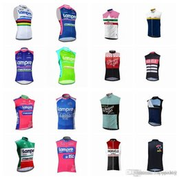 Quick Dry Shirts For Men NZ - LAMPRE Morvelo team Cycling Sleeveless jersey Vest thin MTB Summer For Men Quick Dry Compressed Bike Wear D2715