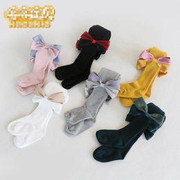 Wholesale Black Cotton Leggings Australia - large bows Girls Tights cotton kids Leggings As Pants Girls Pantyhose Leggings For Kids kids designer clothes girls Cotton Leggings A3352