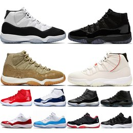 Cheap pink baseball Caps online shopping - 11 s Basketball Shoes Mens Women Cap and Gown Concord Platinum Tint Olive Lux UNC Trainer Designer Sports Sneakers Cheap Size