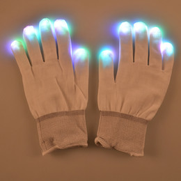 glowing gloves Australia - F17 flashing Led gloves for KTV Party Finger Flashing Glow Flashing Fingertip Light LED Gloves Magic Gloves