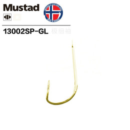 Barbless Hooks Australia - Mustad Carbon Steel Fishing Hook Non-barb Gold Hook Competition Super Fine Thin Small Fish Curcian Catfish Anzol Fishing Accessory 13002