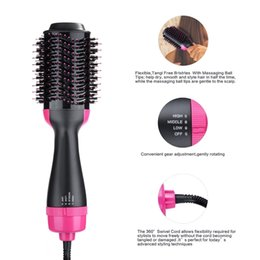 $enCountryForm.capitalKeyWord Australia - 2019 Amazon Hot Sale Curling Hair Wand 2 In 1 Hot Curling Comb Hair Dryer Volumizer Hot Hair Brush Roller Styler T190814