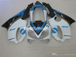 Injection Abs Fairings Australia - Injection mold ABS plastic fairings for Honda CBR600 F4I 04 05 06 07 white blue fairing kit CBR600 F4I 2004-2007 IY23