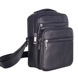 Pouch Pocket Small UK - Mens Leather Small Messenger Bag Satchels Multifunctional Crossbody Shoulder Bag For Travel Casual Male Zipper Pouch Phone Bag