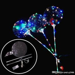 $enCountryForm.capitalKeyWord NZ - New Luminous LED Balloons With Stick Giant Bright Balloon Lighted Up Balloon Kids Toy Birthday Party Wedding Decorations