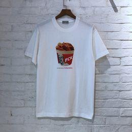 Men chicken online shopping - 2019SS FXXKING RABBITS FCK Fried chicken Printed Women Men T shirts tees Hiphop Streetwear Summer Men Cotton T shirt