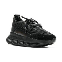 Nova CORRIDA DE REAÇÃO Amor Sneaker Mulheres Homens Triplo Amarelo Preto Corrente Peso Ligado Designer de Moda de Luxo Sapatos Casuais com Caixa de Saco de Poeira venda por atacado