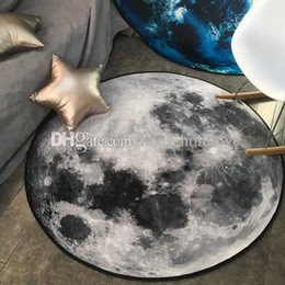 european chairs Australia - Round Carpet Personality Creative Earth Moon 3D Printing Carpet Computer Chair Pad Hanging Basket Carpet Washable mats decorations ideas