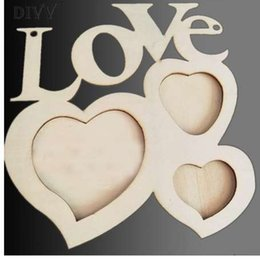 $enCountryForm.capitalKeyWord NZ - Home Wider DIVV Hollow Love Wooden Photo Frame DIY Picture Frame Art Decor White Base sep930 Drop Shipping