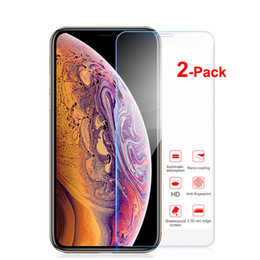 phone screen scratch 2019 - 2-Pack Tempered Glass Film For iPhone X Xs Max XR 7 8 6S Plus 5S 4S Screen Protector Protective Phone Screen Shield chea
