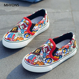 $enCountryForm.capitalKeyWord Australia - 2018 Canvas Kids Shoes Sport Boys Comic Pattern Shoes Children Sneakers For Girls Denim Casual Child Shoes Flat Canvas Sneakers Y19051403