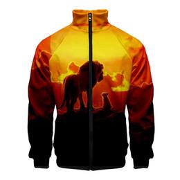 $enCountryForm.capitalKeyWord Australia - Lion King 2019 Release 3D Style Slim Fit Windbreaker Men Slim Fit Zipper Fashion Trend Casual Jacket Windbreaker