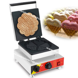 Chinese  Free Shipping Commercial Use Non-stick 110v 220v Electric Love Heart Shaped Waffle Machine Iron Baker Maker manufacturers