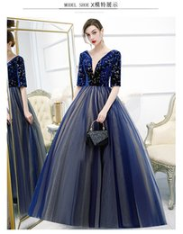 royal blue victorian ball dress Canada - royal blue star half sleeve ball gown queen gown medieval dress Renaissance gown royal Victorian dress princess cosplay Ball