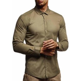 $enCountryForm.capitalKeyWord Australia - SHUJIN Mens shirts Camisa Masculina Long Sleeve Shirt Men Korean Slim Fit Design Formal Casual Male Dress Shirt Size M-3XL