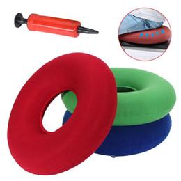 PumP Pillow online shopping - 35cm Inflatable Ring Round Medical PVC Seat Cushion Sitting Donut Air Pillow Massage Mattress Pillow Anti Hemorrhoid Pump